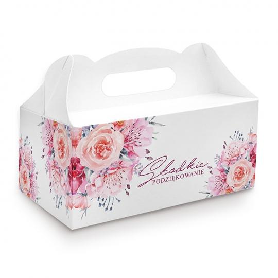 """Pudełko na ciasto """" słodkie podziękowania """""""