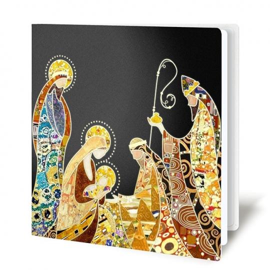 Kartka Świąteczna z Motywem Świętej Rodziny FS903