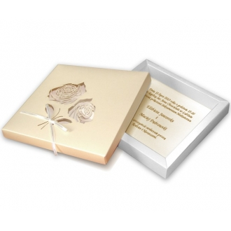 Zaproszenia Ślubne w Formie Pudełka z Różami F1001