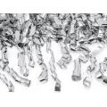 Tuba z serpentynami, srebrny, 80cm