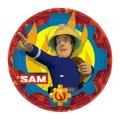 """Talerzyki papierowe """"Strażak Sam """", 23 cm, 8 szt."""