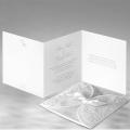 Zaproszenia Ślubne wykonane z papieru w kolorze granatowym F1198N