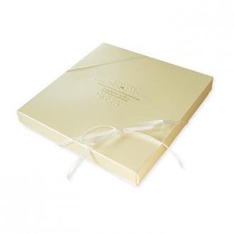 Zestaw zaproszeń ślubnych składający się z zaproszenia ślubnego, menu weselnego i winietki na stół Elegance II