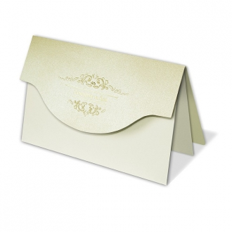 Zestaw zaproszeń ślubnych składający się z zaproszenia ślubnego, menu weselnego i winietki na stół Elegance IV