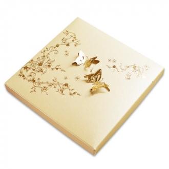 Zaproszenia Ślubne w Pudełku z Motywem Kwiatowym i Motylkami F1163