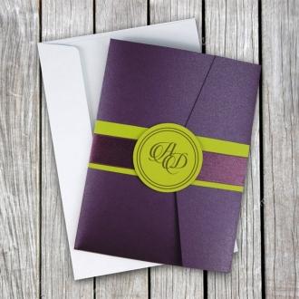Zaproszenia Ślubne w Kolorze Fioletowym F1331f