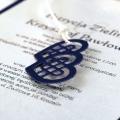 Zaproszenia Ślubne Granatowe z Sercami F1346i