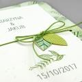 Zaproszenia Ślubne z Motywem Roślinnym F1361
