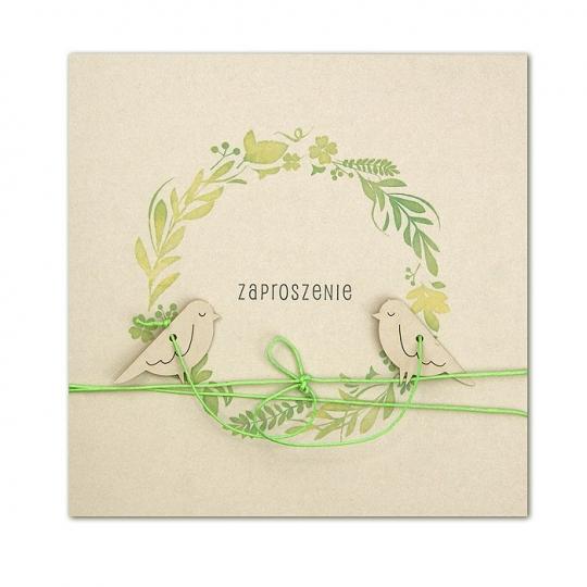 Zaproszenia Ślubne z Ptaszkami F1369p