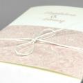 Zaproszenia Ślubne z Banderola Pudrowy Róż F1375r