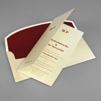 Zaproszenia Ślubne z Inicjałami F1380tz3