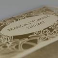 Zaproszenia Ślubne w Kolorze Starego Złota F1381o