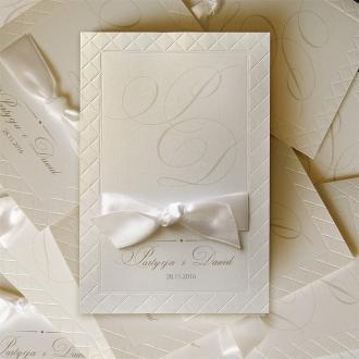 Zaproszenia Ślubne w Kolorze Ecru F1244tz