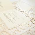 Zaproszenia Ślubne w Formie Ramki z Motywem Roślinnym F1247tz