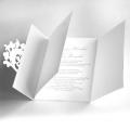 Zaproszenia Ślubne Białe z Motywem Kwiatowym F1269tb