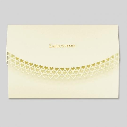 Zaproszenia Ślubne w Kolorze Ecru F1385