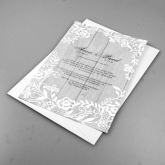 Zaproszenia Ślubne w Białe Kwiaty F1326