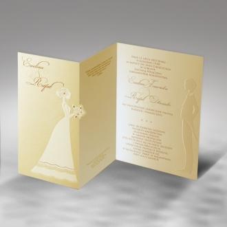 Zaproszenia Ślubne z Młodą Parą F1170o