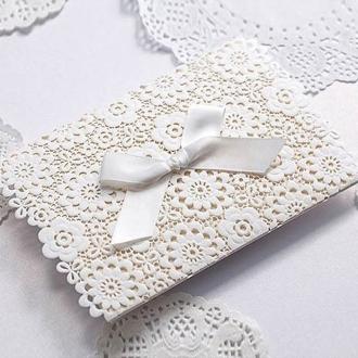 Zaproszenia Ślubne z Tłoczeniami w Kolorze Białym CW5059