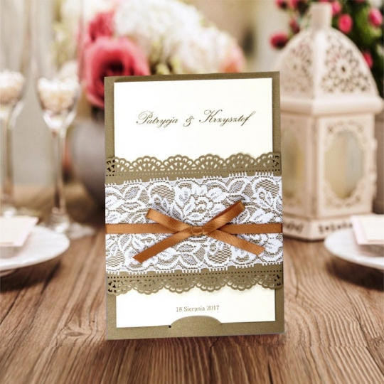 Zaproszenia Ślubne z Satynową Wstążką CW5095