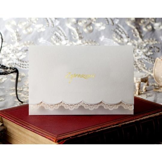 Zaproszenia Ślubne w Kolorze Białym T1110