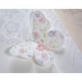 Zaproszenia Ślubne w Kolorze Białym z Motylkiem T1134