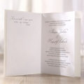 Zaproszenia Ślubne w Kolorze Ecru z Tłoczeniem Bukiet Kwiatów TBH3201