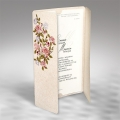 Zaproszenia Ślubne Beżowe z Kolorowymi Kwiatami Eko Papier F1290