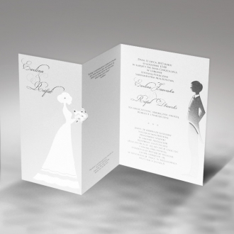 Zaproszenia Ślubne z Młodą Parą F1170tb