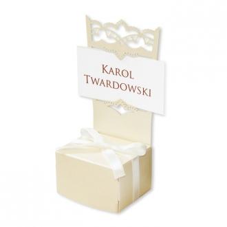 Winietka Ślubna w Kolorze Ecru w Kształcie Krzesełka FLW28e
