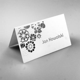 Winietka Ślubna w Kolorze Białym z Laserowo Wyciętymi Kwiatami FLW35
