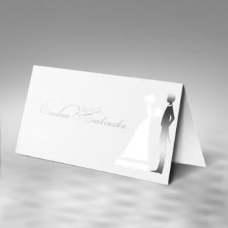 Winietka Ślubna w Kolorze Białej Perły z Młodą Parą FW1170tb