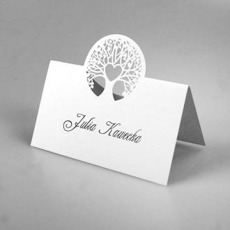 Winietka Ślubna w Kolorze Białym z Drzewem FW1327kb