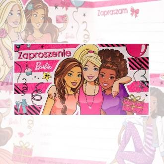 Zaproszenie na urodziny Barbie Mattel V0181