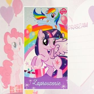 Zaproszenie na urodziny My Little Pony Hasbro V0165