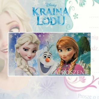 Zaproszenie na urodziny Kraina Lodu Frozen Disney V0172