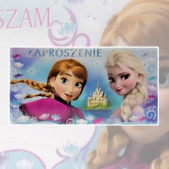 Zaproszenie na urodziny Kraina Lodu Elza Anna i Olaf Disney V0173