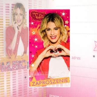 Zaproszenie na urodziny Violetta Disney V0166