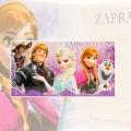 Zaproszenie na urodziny Kraina Lodu Elza Anna Olaf Sven Disney V0164