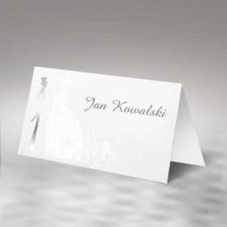 Winietka Ślubna w Kolorze Białym z Sercem FW1330