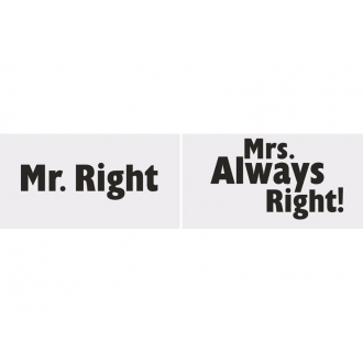Tabliczki Mr. Right/Mrs. Always Right!, 1op.