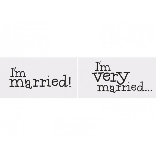Tabliczki I'm married/I'm very married, 1op.