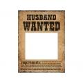 Tabliczki Husband Wanted i Wife Wanted, 1op.