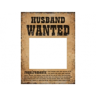 Tabliczki Husband Wanted i Wife Wanted, 1op.