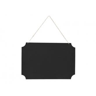 Tabliczka wisząca do napisów, czarny, 1op.