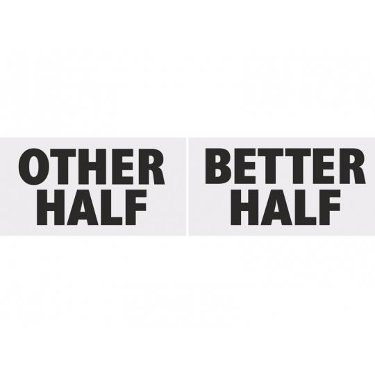 Tabliczka Other Half & Better Half, 1op.