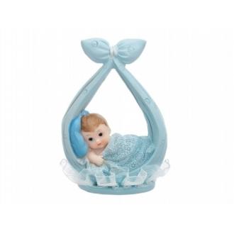 Figurka Chłopiec w chuście, niebieski, 11cm, 1szt.