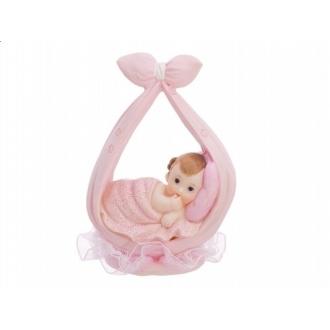 Figurka Dziewczynka w chuście, różowy, 11cm, 1szt.
