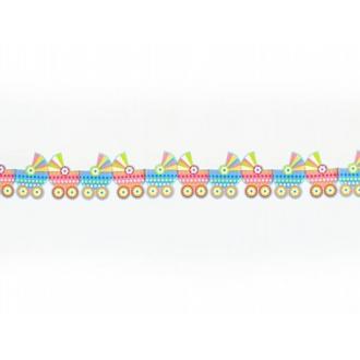 Girlanda papierowa Wózeczki, mix, 3m, 1szt.