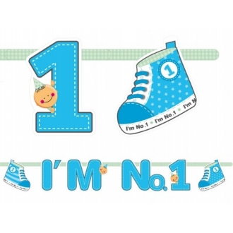 Baner I'm No. 1, niebieski, 110cm, 1szt.